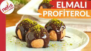 Elmalı Profiterol Tarifi (Videolu) - Nefis Yemek Tarifleri