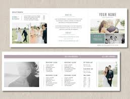 Photography Pricing Template Photography Pricing Template Trifold Card For Photographers
