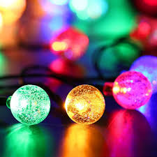 led crystal ball solar powered string indoor or outdoor lights whitewarm colorful stream with outdoor ball lights