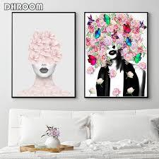 fashion wall art woman portrait art