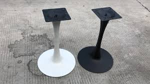 metal pedestal table base. Dining Table With Glass Top And Metal Base In Chrome Finish Tulip Outdoor Pedestal For