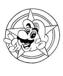Mario And Yoshi Coloring Page Gmvcontentcom