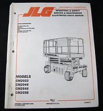jlg heavy equipment manuals books for scissor lift jlg commander cm2033 cm2046 cm2546 cm2558 scissor lift service op part manual
