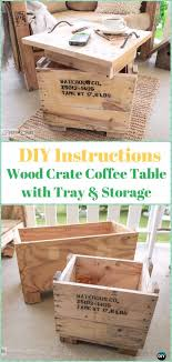 Wood crate furniture diy Simple Diy Diy Wood Crate Coffee Table With Tray Storage Instructions Diy Wood Crate Furniture Ideas Projects Diy How To Diy Wood Crate Furniture Ideas Projects Instructions