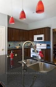 Red Kitchen Pendant Lights Red Pendant Light With Unique Look Giving Special Kitchen
