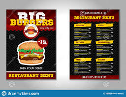 Flyer Design Food Burger Flyer Design Vector Template In A4 Size Brochure And Layout
