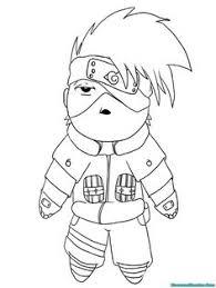 Small Picture Naruto Chibi Kakashi Lineart by kimberly castello LineArt