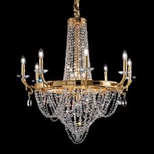 empire swarovski crystal gold plated chandelier
