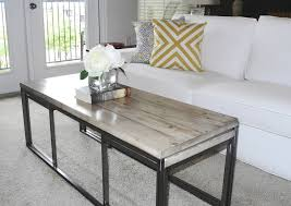 Reclaimed Pine Plank Coffee Table. The Planks Were Hand Sanded To Reveal  The Original Knots And Cracks In The Wood. Pull Out Benches Offer Extra  Seating.