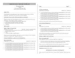 Bartender Resume No Experience Template Http Www Resumecareer