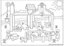 Kleurplaat Boerderij бојанке за дјецу Farm Animal Coloring Pages