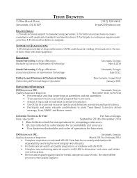 Quality Control Inspector Resume Here Are Template Successmaker Co