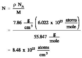 density equation. step 2:use this atom density in equation (2-2) to calculate the macroscopic cross section.