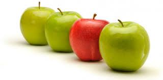 Bildergebnis für green apples and red