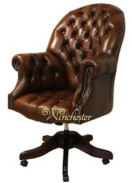 leather swivel office chair. Chesterfield-buttoned-directors-leather-swivel-office-chair-wc Leather Swivel Office Chair E