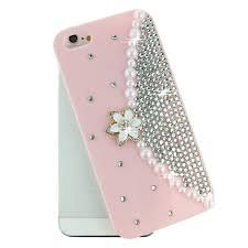 Mobile Cover Designs Handmade 3d Handmade Luxury Pearl Wallet Design Glitter Crystal Cell