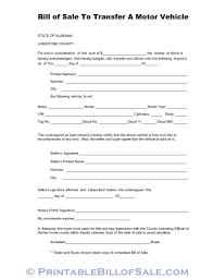 Free Limestone County Alabama Vehicle Bill Of Sale Form Download