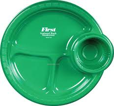 10 5 plastic party plates 3 compartment with cup holder china whole homecare and houseware plates