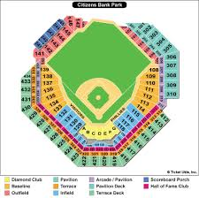 Braves Tickets Seating Chart Citizen Bank Park Seating Chart Philadelphia Phillies