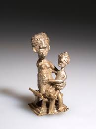 goldweight woman child 90 2 8069 african ethnographic collection culture ashanti country ghana material metal brass dimensions h 5 w 2 5 in cm