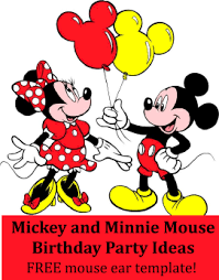 Mickey Mouse Party Printables Free Mickey And Minnie Mouse Birthday Party Theme Ideas