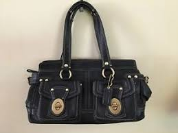 Image is loading Coach-Large-Legacy-Mandy-Turnlock-Pockets-Zip-Satchel-