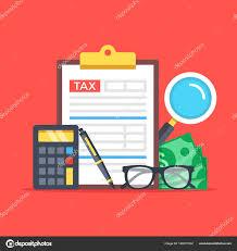 Tax Accounting, Budget Calculation. Clipboard, Tax Form, Calculator ...
