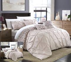 pintuck bedding set oversized king comforter set awesome size bedding throughout sets 5 pintuck comforter set