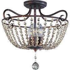 maxim lighting adriana 3 light urban rustic semi flush mount light