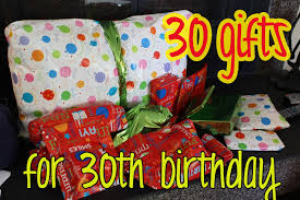 gift idea 30 gifts for 30th birthday