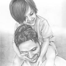 A father is often known as a son's first hero and a daughter's first love. Give the special man in your … | Portrait drawing, Father's day drawings, Pencil portrait