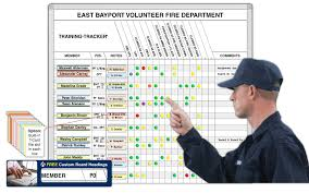 Tracker Training Training Tracker Board Ideal For Fire Departments Magnatag