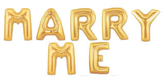 16 marry me foil letter balloon gold mylar balloons proposal propose wedding engagement married love 0 0 width=720&height=960