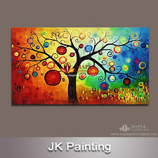 wall art canvas huge decorative money tree painting wall pictures for living room canvas print artwork abstract canvas painting