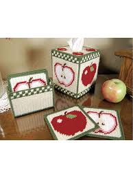 country apples tissue box and coasters