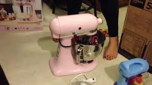Pink Kitchen Aid Mixer Kitchenaid Stand Mixer Unboxing Pink Youtube
