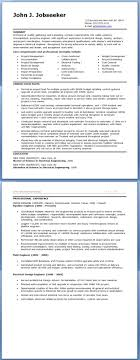 Resume Templates Manufacturing Engineer Sample Resumes Hospi ...
