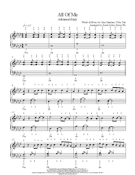 All of me we give you 3 pages partial preview of all of me music sheet that you can try for free. All Of Me By John Legend Piano Sheet Music Advanced Level