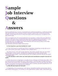 Interview Answer Samples Sample Questions And Answers How To Write