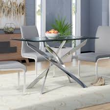 glass dining furniture. Coraline Glass Top Modern Dining Table Furniture