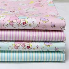 Online Buy Wholesale stripe quilting fabric from China stripe ... & Cotton Quilting Fabric Sewing Princess Cartoon Stripe Fabric for Patchwork  Crafts 4 Designs Color Pink Green Adamdwight.com