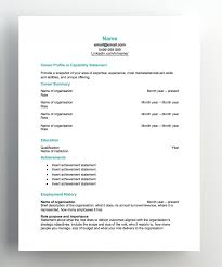 Resume Making Sites Template Great Free Cv Templates Resume Templates Hudson