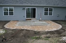 diy extending concrete patio with pavers paver for the intended extend decorations 2