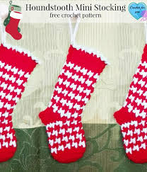 Crochet Stocking Pattern Gorgeous Houndstooth Crochet Stocking Pattern FaveCrafts