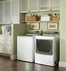 ... Home Decor Minimalist Design For Laundry Room White Washing Machine  Modern Dryer Clothes In Tone Wooden ...