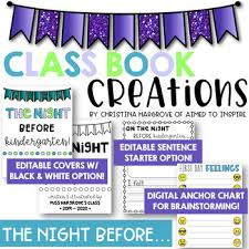 The Night Before Kindergarten The Night Before First Grade Activity Editable