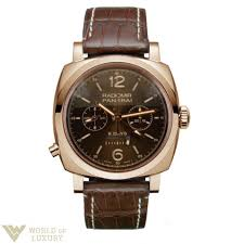 panerai watches buy online price list shop at world of luxury panerai radiomir 1940 monopulsante 8 days gmt oro rosso 18k rose gold limited edition men s watch