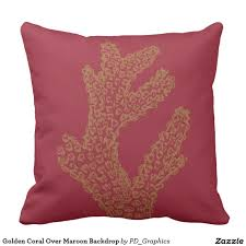 maroon decorative pillows. Modren Decorative Golden Coral Over Maroon Backdrop Throw Pillow In Decorative Pillows O