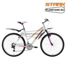 <b>Велосипед Stark Luna 26.1</b> V 2018 белый/фиолетовый/жёлтый