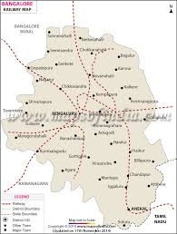 Indian Railway Route Chart Bangalore Railway Map Maps Of India